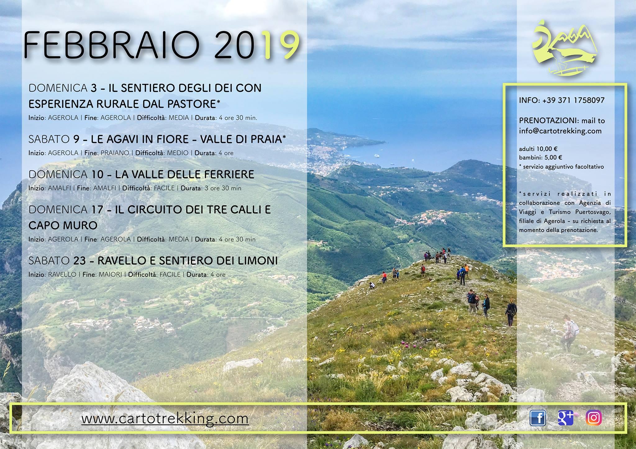 Calendario escursione Febbraio Cartotrekking