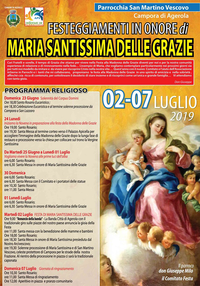 Festeggiamenti in onore di MARIA SANTISSIMA DELLE GRAZIE