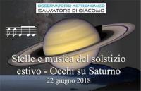 Stelle e musica del Solstizio estivo – Occhi su Saturno 2018
