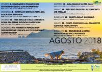 Calendario escursioni: AGOSTO 2018